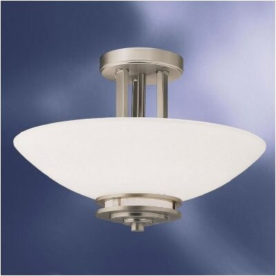 Bourneville Semi Flush Mount Size: 10H x 15Dia, Finish: Polished Nickel
