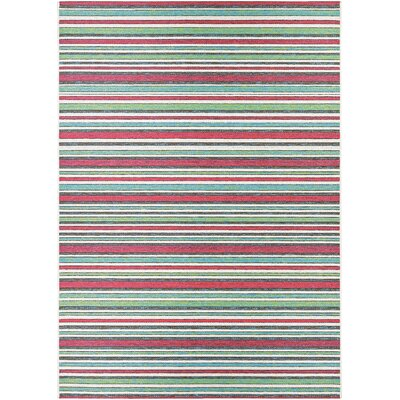 Colesberry Pink/Green Indoor/Outdoor Area Rug Rug Size: Rectangle 53 x 76