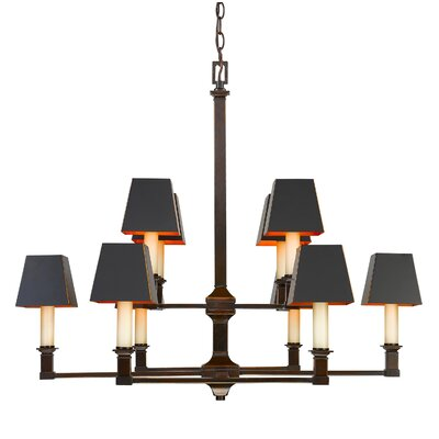 Columbine Valley 2 Tier 10-Light Incandescent Candle-Style Chandelier