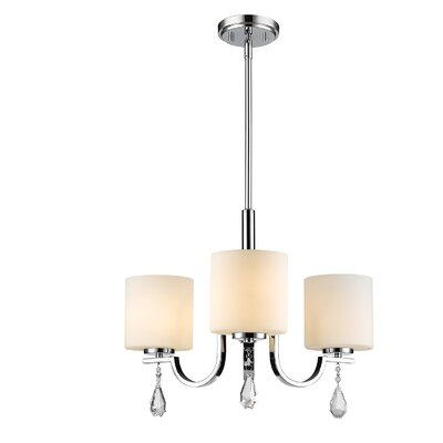 Bertrand 3-Light Shaded Chandelier