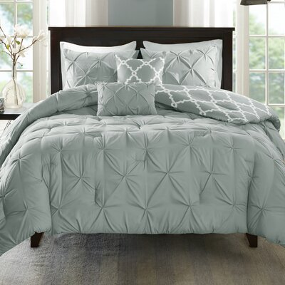 Alvordton 5 Piece Reversible Comforter Set Size: Full/Queen, Color: Gray