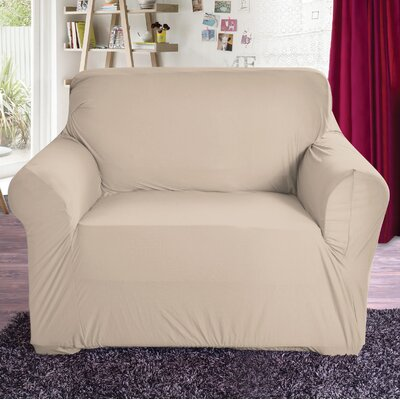 Polyester Arm Chair Slipcover Color: Beige