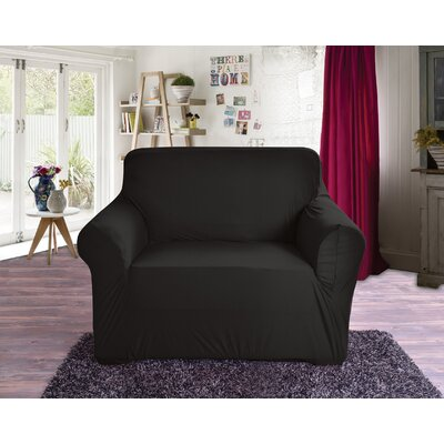 Box Cushion Armchair Slipcover Color: Black