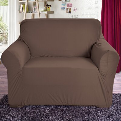 Polyester Arm Chair Slipcover Color: Chocolate