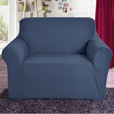 Polyester Arm Chair Slipcover Color: Navy