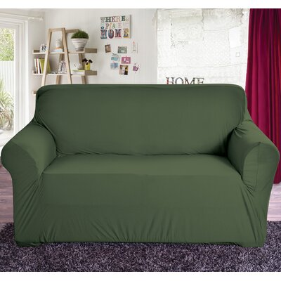 Box Cushion Loveseat Slipcover Color: Sage