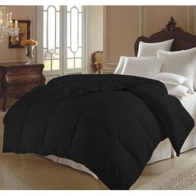 All Season Polyester Down Alternative Comforter Color: Black, Size: King
