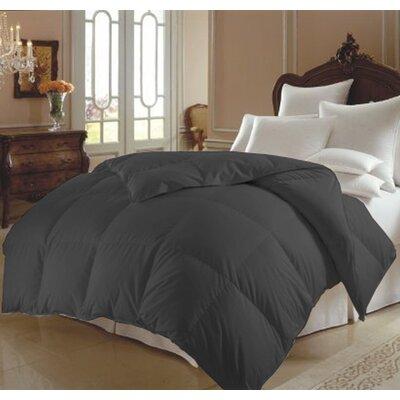 All Season Polyester Down Alternative Comforter Color: Gray, Size: Queen