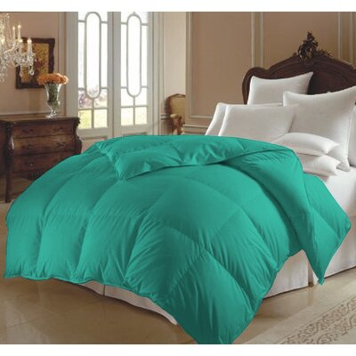 All Season Polyester Down Alternative Comforter Color: Turqouise, Size: Queen