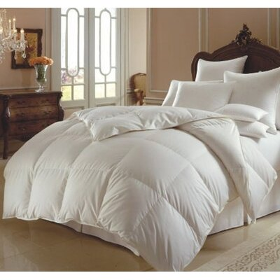 All Season Polyester Down Alternative Comforter Color: White, Size: King