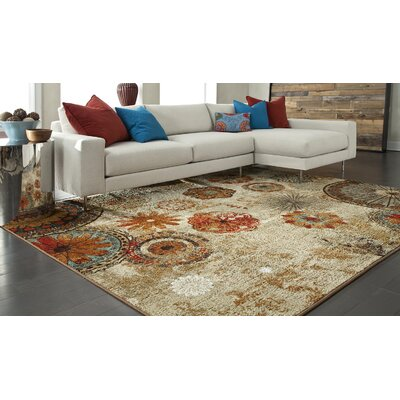 Akron Beige Area Rug Rug Size: 76 x 10
