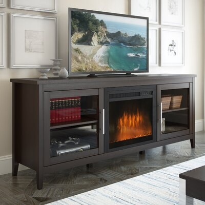 Starkville 71 TV Stand with Optional Fireplace Color: Espresso, Fireplace Included: Yes