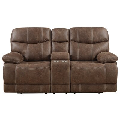 Sellars Motion Reclining Loveseat with Console
