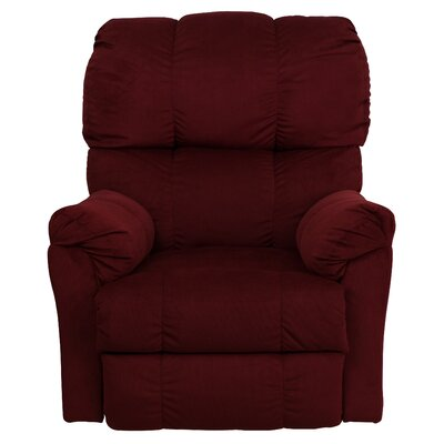 Bowler Top Hat Manual Rocker Recliner Upholstery: Berry