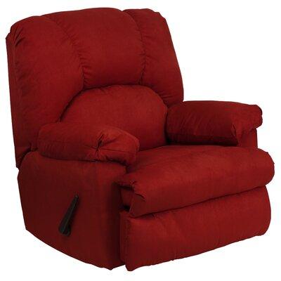 Bowler Chaise Recliner Upholstery: Montana Garnett Microfiber Suede