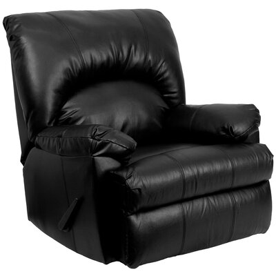 Bowler Leather Chaise Recliner Upholstery: Apache Black Leather