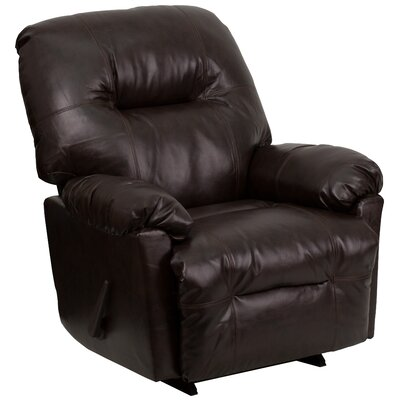 Bowler Manual Rocker Recliner Upholstery: Bentley Brown Leather