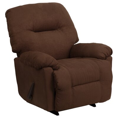 Bowler Manual Rocker Recliner Upholstery: Calcutta Chocolate Microfiber