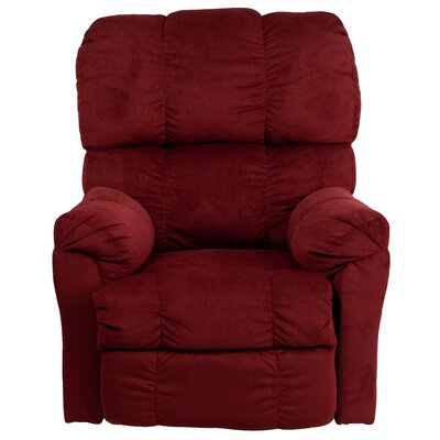 Bowler Microfiber Power Recliner Upholstery: Berry