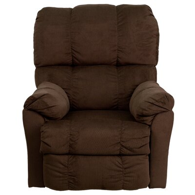 Bowler Microfiber Power Recliner Upholstery: Chocolate