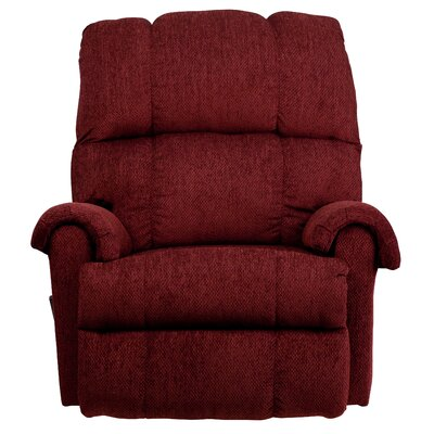 Bowler Manual Rocker Recliner Upholstery: Burgundy