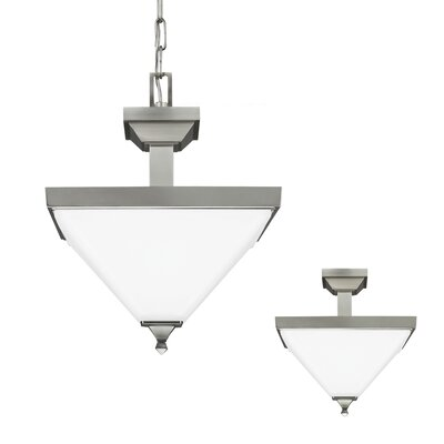 Aleshire 2-Light Inverted Pendant Finish: Burnt Sienna, Bulb Type: 13W Self Ballasted GU24 CFL