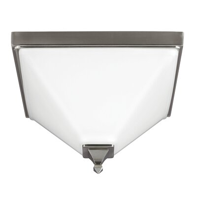 Aleshire 2-Light Flush Mount Finish: Brushed Nickel, Bulb Type: 13W Self Ballasted GU24 CFL