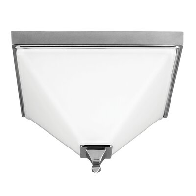 Aleshire 2-Light Flush Mount Finish: Chrome, Bulb Type: 60W A19 Medium