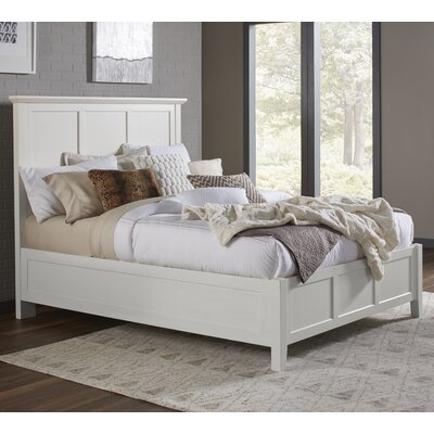 Allenville Panel Bed Size: King, Color: White