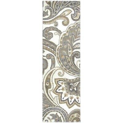 Allerton Hand-Tufted Beige/Gray Area Rug Rug Size: Runner 26 x 8