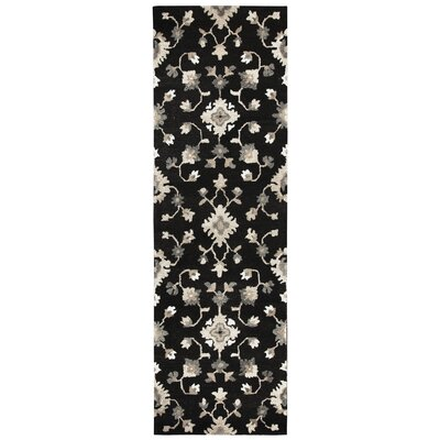 Allerton Hand-Tufted Brown/Black Area Rug Rug Size: Runner 26 x 8