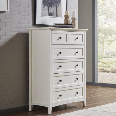 Allenville 5 Drawer Chest Color: White
