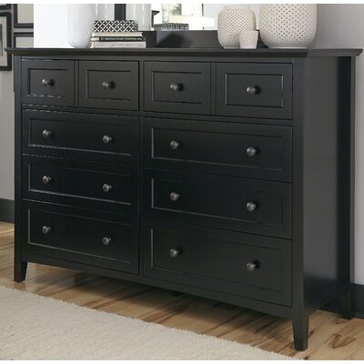 Allenville 8 Drawer Dresser Color: Black