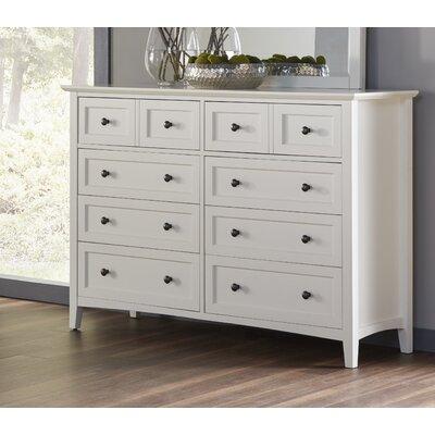 Allenville 8 Drawer Dresser Finish: White
