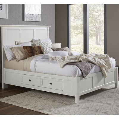 Allenville Storage Panel Bed Size: King, Finish: White