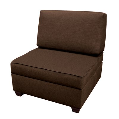 Attica Sit n Store Side Chair Upholstery: Espresso