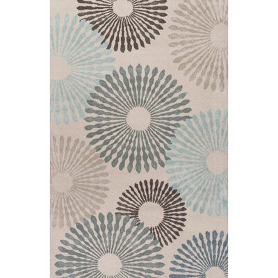 Amboy Hand-Tufted Blue Area Rug Rug Size: Rectangle 8' x 10'