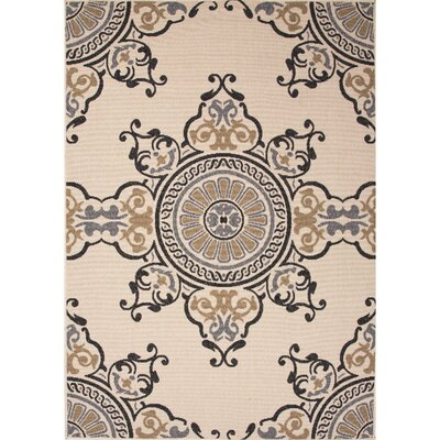 Ammons Taupe/Gray Indoor/Outdoor Area Rug