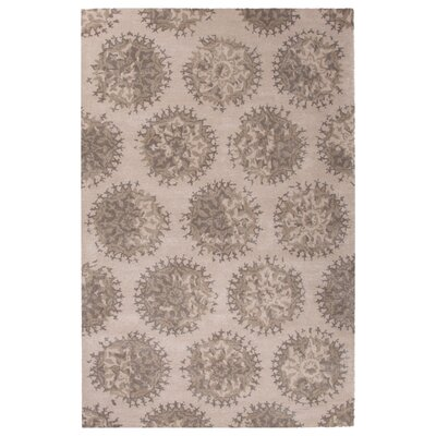 Amundson Hand-Tufted Ivory/Gray Area Rug Rug Size: Rectangle 5 x 8