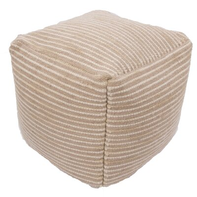 Andrews Textural Wool and Cotton Pouf Ottoman