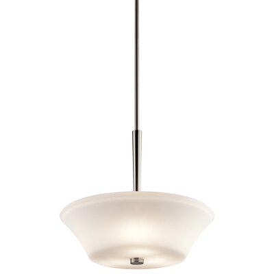 Bergstrom 1-Light Bowl Pendant Finish: Brushed Nickel