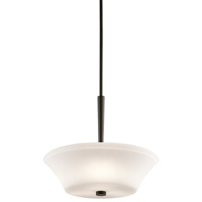 Bergstrom 1-Light LED Bowl Pendant Finish: Olde Bronze