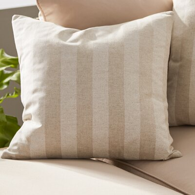 Knotts Outdoor 100% Cotton Throw Pillow Color: Cloud Linen, Size: 20 H x 20 W