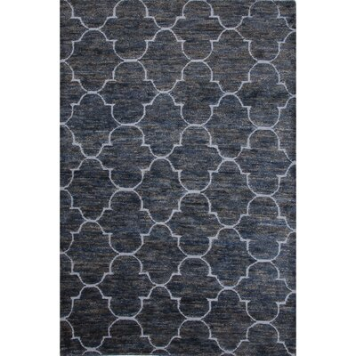 Archer Lane Hand-Woven Wool Dark Denim Area Rug Rug Size: Rectangle 2 x 3