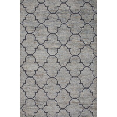 Archer Lane Jute and Wool Blue Naturals Area Rug Rug Size: 8 x 11