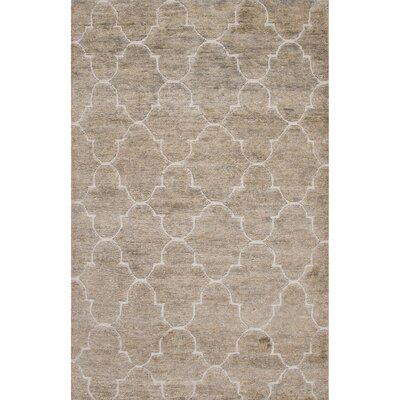 Archer Lane Hand-Woven Jute and Wool Gray/Ivory Area Rug Rug Size: Rectangle 5 x 8