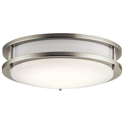 Arends 1-Light LED Flush Mount Finish: Brushed Nickel