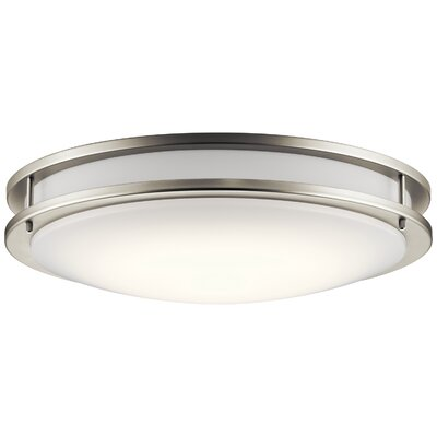 Arenzville 1-Light LED Flush Mount Finish: Brushed Nickel