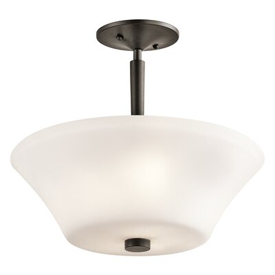 Bergstrom 3-Light LED Semi Flush Mount Finish: Olde Bronze