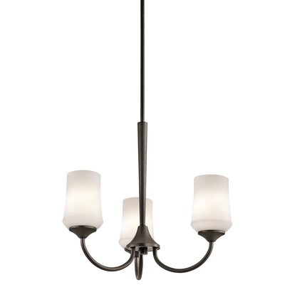 Bergstrom 3-Light Shaded Chandelier Finish: Olde Bronze